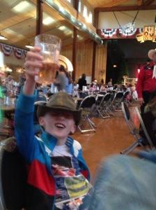 Cowboy aan het bier